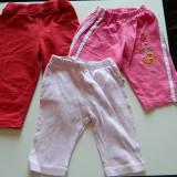 Haine Copii 6 - 12 luni, Pantaloni - Set de 3 pantaloni, pantalonasi pentru fetite, marimea 0 luni- 1 an, ideali de casa, de joaca