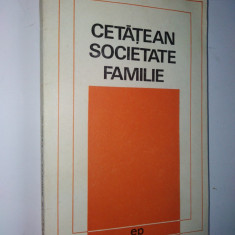 Cetatean, societate, familie – Dezbateri etice – Ed. Politica 1970 - Carte Psihiatrie