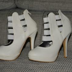 Pantofi Mireasa Albi - Pantofi dama, Marime: 37
