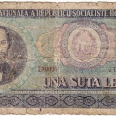 Bancnote Romanesti, An: 1966 - Bancnota 100 lei 1966