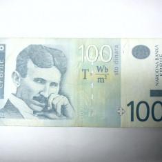 BANCNOTA - SERBIA   - 100 DINARI 2006 - NIKOLA TESLA