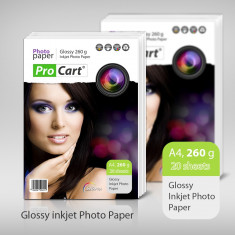 Hartie foto imprimanta - HARTIE FOTO A4 PROCART 260GSM GLOSSY INKJET 20COLI/TOP
