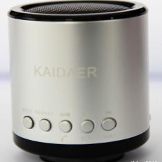 Boxe Telefon - Boxa Kaidaer !!Boxa FM Portabila Cu Acumulator !!Slot card+usb!