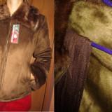 Palton/ jacheta cu blanita artificiala nou! - Palton dama