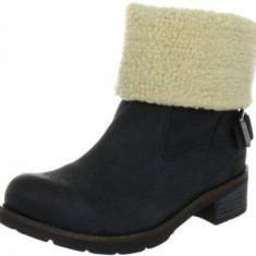 Ghete Calvin Klein Jeans - Ghete dama Calvin Klein, Marime: 36, Culoare: Negru, Piele naturala, Negru