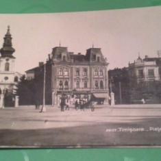1904 TIMISOARA PIATA TRAIAN NECIRCULATA - Carte Postala Banat 1904-1918