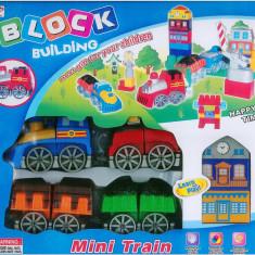 Trenulet de jucarie Altele, 2-4 ani, Plastic, Unisex - Trenulet cu bariera | Jucarie baieti | Piese mari | Recomandat copiilor peste 3 ani | NOU