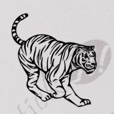 Tiger_Tatuaj De Perete_Sticker Decorativ_WALL-165-Dimensiune: 35 cm. X 32.2 cm. - Orice culoare, Orice dimensiune