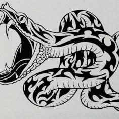 Snake_Tatuaj De Perete_Sticker Decorativ_WALL-058-Dimensiune: 35 cm. X 26.6 cm. - Orice culoare, Orice dimensiune - Tapet