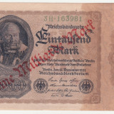 Bancnota Straine, Europa - (6) BANCNOTA GERMANIA - 1 MILLIARDE MARK 1922 (15 DECEMBRIE 1922), SUPRATIPAR, FILIGRAN CU SPIRALA, SERIE CU CIFRE MARI, STARE BUNA