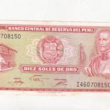 Bnk bn peru 10 soles de oro 1976 xf