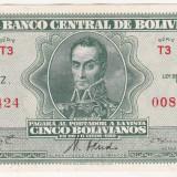 Bnk bn bolivia 5 bolivianos 1928 xf