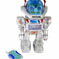 Roboti de jucarie, Plastic, Baiat - Super Robot de jucarie cu discuri si sisitem deosebit de sunete si lumini