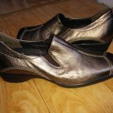 Pantofi din piele firma Semler marimea 38, 5, sunt noi! - Pantofi dama, Marime: 38.5, Auriu