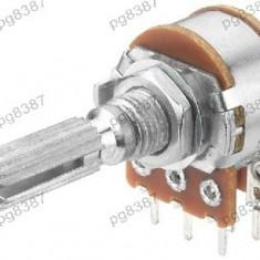 Potentiometru rotativ 1K, liniar, stereo - 161010