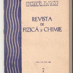 Revista de Fizica si Chimie nr.7-1985 - Culegere Fizica