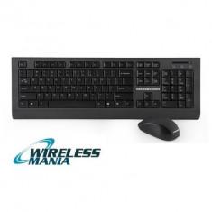 Kit Tastatura + Mouse Wireless ModeCom MC-6200, Standard, Fara fir, USB