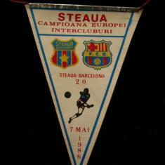 Fanion fotbal - PENTRU UN FAN STEAUA BUCURESTI - FANION - STEAUA BUCURESTI - FC BARCELONA - CUPA CAMPIONILOR EUROPENI - 07 MAI 1986