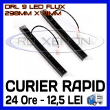 DRL 9-LED Flux - 298mm x 31mm - DAYTIME RUNNING LIGHT - LUMINI DE ZI