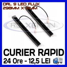 DRL 9-LED Flux - 298mm x 31mm - DAYTIME RUNNING LIGHT - Lumini de zi ZDM, Universal