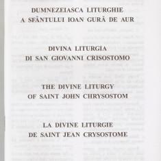 LITURGHIA SF. IOAN GURA DE AUR - IN 4 LIMBI {BISERICA GRECO CATOLICA} - Carti de cult