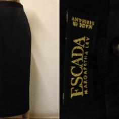 Fusta maxi ESCADA 100% originala, Marime: 38, Culoare: Negru, Creion, Lana