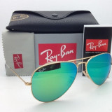 Ochelari Ray Ban Aviator RB3025 112/19 Originali - Ochelari de soare Ray Ban, Unisex, Verde, Pilot, Metal, Protectie UV 100%
