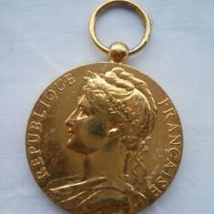 Medalie aurita Franta Ministere du Travail