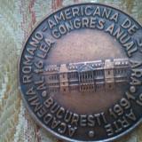 Medalii Romania - Medalie Academia Romano-Americana de Stiinte si Arte al 16 lea congres anual ARA, 16th Annual ARA Congress, Bucuresti 1991, 14 grame