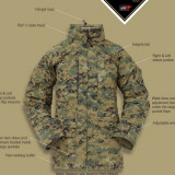 Jacheta Goretex Militara USMC APECS (vanatoare, airsoft, outdoor, bushcraft) - Imbracaminte Vanatoare, Marime: M, Barbati, Jachete