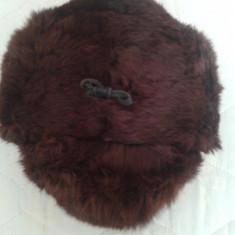 Fes Barbati - Caciula blana iepure unisex