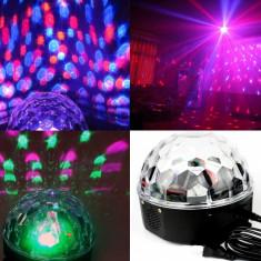 Lumini club - LUMINI DISCO/DISCOTECA MAGIC BALL Glob rotativ disco. TELECOMANDA. STICK. USB.