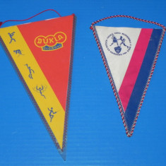 LOT 2 FANIOANE SPORT, BOX - CEHOSLOVACIA - DUKLA OLOMUC, - Fanion fotbal