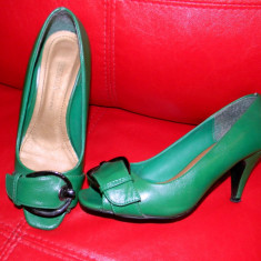 Pantofi dama, Marime: 36, Verde - Pantofi verzi mar.36