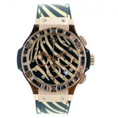 Hublot Big Bang 48mm Leopard Rosegold - calitate maxima ! - Ceas barbatesc Hublot, Casual, Inox, Cauciuc, Analog