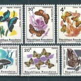 RWANDA 1966 - FLUTURI - SERIE NESTAMPILATA - MNH - COTA : 11 E (SERIE COMPLETA)
