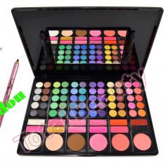Trusa make up - Trusa machiaj 78 culori cu ruj si blush Fraulein38 + CADOU Creion Sprancene