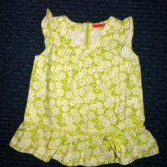 Haine Copii 10 - 12 ani, Bluze, Fete - Bluzita de vara verde vesela, marca EXIT, fete 10 ani/ 140 cm - mic defect
