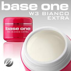 Gel unghii - Gel uv Polonia Silcare Base One pentru french, alb extra Bianco Extra 5 ml