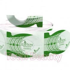 Gel unghii - Sabloane Unghii Constructie EzFlow Rola Verde - Sabloane Ezflow - 500 bucati
