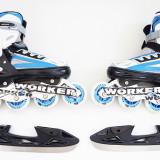 WORKER Nolan - Role vara - patine iarna - reglabile 37 - 43 - montura metalica