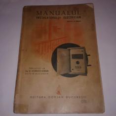 Carti Energetica - W.BLATZHEIM - MANUALUL INSTALATORULUI ELECTRICIAN Ed.1942