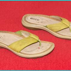 DE FIRMA _ Saboti / slapi de calitate, piele, impecabili, ECCO _ femei | nr. 39 - Saboti dama Ecco, Culoare: Din imagine
