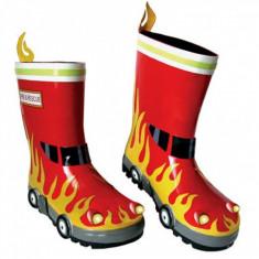 Cizme copii - Cizmulite din cauciuc Fireman 23 Kidorable