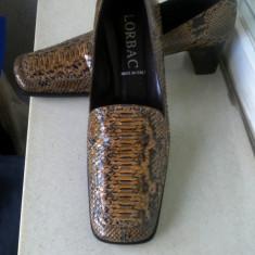 PANTOFI LORBAC ORIGINALI, DE COLECTIE, PITON MARIME 39 ITALIA - Pantof dama, Culoare: Din imagine, Piele naturala