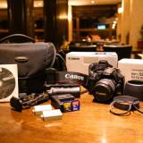 Aparat foto Canon 450D + Canon EF-S 18-55mm + Canon EF-S 55-250mm - DSLR Canon, Kit (cu obiectiv), 12 Mpx