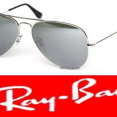 Ochelari Ray Ban Aviator - Ochelari de soare Ray Ban, Unisex, Negru, Metal, Protectie UV 100%