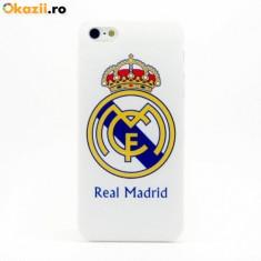 Husa Real Madrid pentru iPhone 6 + plus, folie ecran inclusa - Husa Telefon Apple, Albastru, Plastic, Carcasa