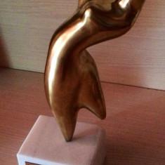 Sculptura Statuie bronz Marcel Guguianu, soclu marmura, Abstract, Europa