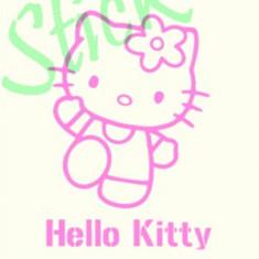 Hello Kitty_Tatuaje de Perete_Sticker Decor_Cod:WALL-698-Dim: 35 cm. x 24.2 cm. - Tapet